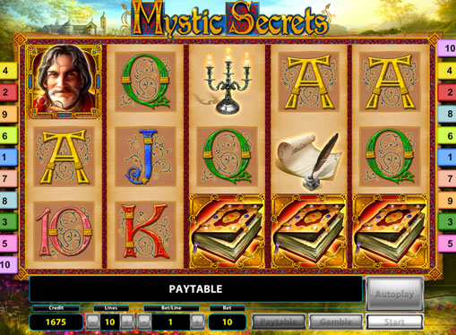 The reels of pokies Mystic Secrets Deluxe