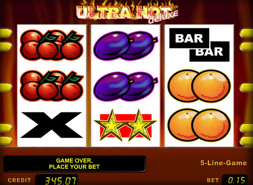 The reels of pokies Ultra Hot Deluxe