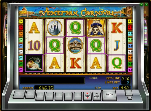 The reels of pokies Venetian Carnival