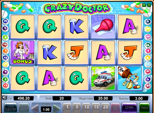 The signs of pokies Crazy Doctor