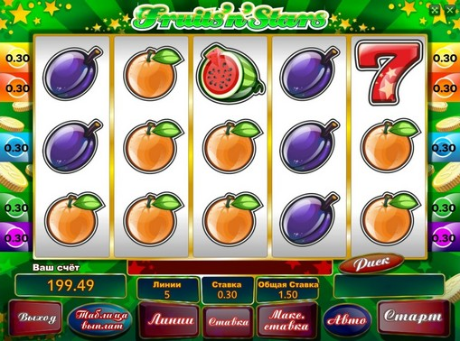 The signs of pokies Fruits n Stars