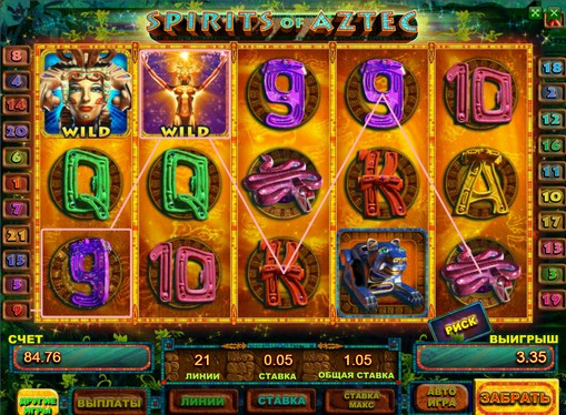 The signs of pokies Spirits of Aztec