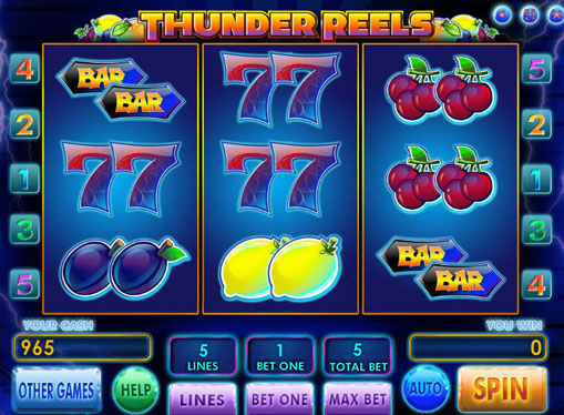 Thunder Reels play the pokies online for money