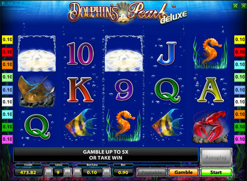 Winning line of pokies Dolphins Pearl Deluxe