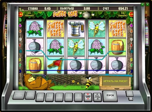 Winning line of pokies Sweet Life
