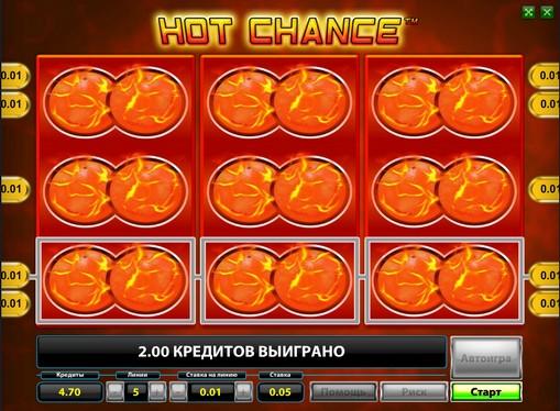 Winnig line of pokies Hot Chance