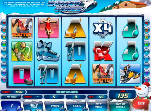 Winter Games play the pokies online for money